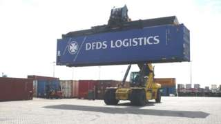 DFDS Logistics container