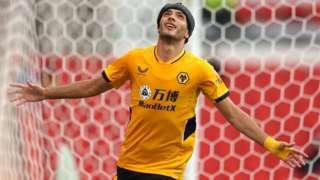 Raul Jimenez celebrating his goal