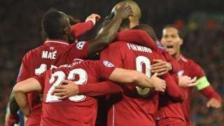 Liverpool players celebrate