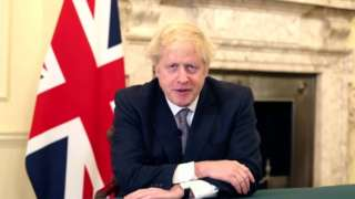 Boris Johnson at the Scottish Tory conference 2020