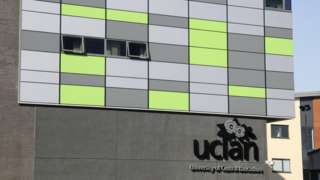 Exterior of Uclan Media Faculty