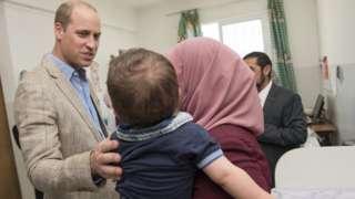 Prince William on visit to Jalazone Refugee Camp, near Ramallah