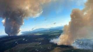 British Colombia'da çıkan yangınlar