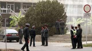 Пойтахт Душанбедаги милиция ходимлари