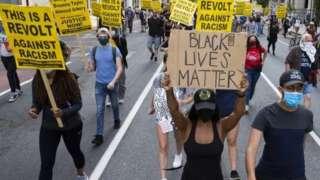 Black Lives Matter march in Washington DC, 15 June