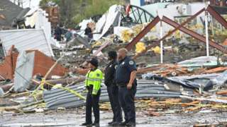 The tornadoes tore across central Tennessee killing 24 and destroying buildings