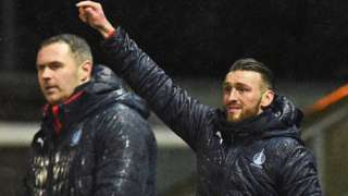 Falkirk co-manager David McCracken and Lee Miller