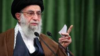 Ayatollah Ali Khamenei speaks in Tehran, Iran, on 3 November 2020