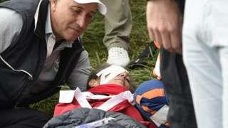 Corine Remande injured at the Ryder Cup