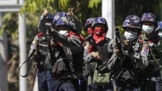 Polisi antihuru-hara Myanmar, kudeta, militer