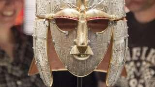 Replica of helmet at Sutton Hoo