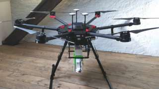 Drone with mosquito chamber beneath