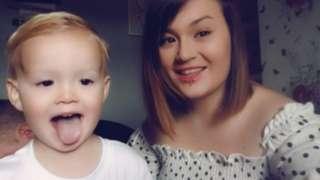 Alanna Clarke and son Lyle