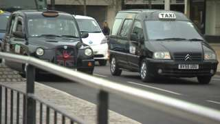 Taxis in Hull city centre