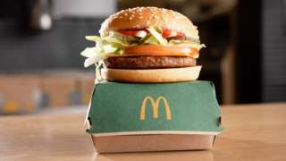 McPlant burger close-up
