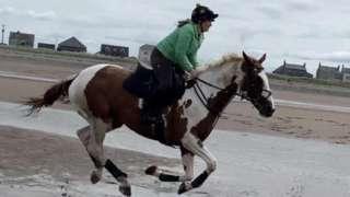 Francesca riding Bart