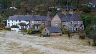 Flooding in Ironbridge, Shropshire