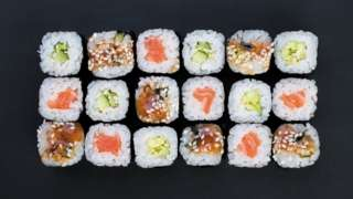 """A sushi chain offered free food to anyone whose legal name included the characters for """"salmon"""" (File photo)"""