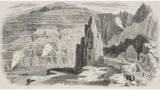 An illustration of Penrhyn Quarry in 1851
