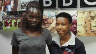 Kenya captain Mary Kinuthia and Kenya team manager Doreen Nabwire