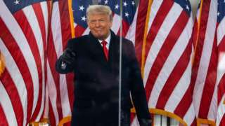 Donald Trump at rally in front of White House
