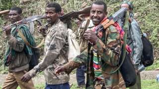 Members of an Amhara militia in Ethiopia - 14 July 2021
