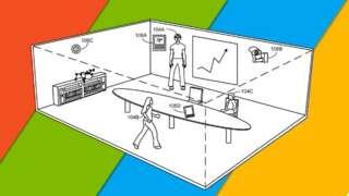 Patent çizimlerinde toplantı odalarına yerleştirilecek sensörler görülüyor