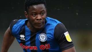 Kwadwo Baah in action for Rochdale