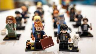 Harry Potter Lego 'Minifigures' on display at a 'Dream Toys' event