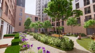 New artist's impression of how St Catherine's Place in Bedminster could look