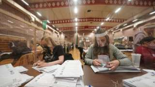 Vote counting in Hartlepool