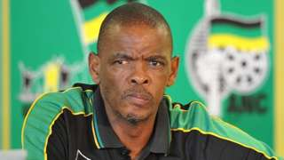 Free State Premier Ace Magashule attends a press conference to mark the upcoming 100th anniversary of the African National Congress (ANC) on January 4, 2012 in Bloemfontein, South Africa