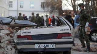 Потужний землетрус у Хорватії. Фото