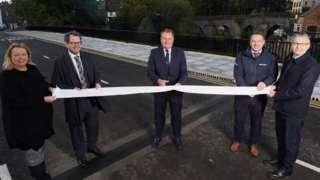 Councillors open the new bridge