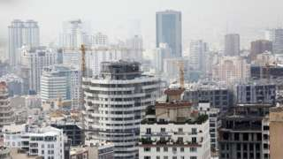 File photo showing high-rise buildings in Tehran, Iran (8 July 2020)