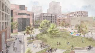An artist's impression of the plans for the former Kellogg's site