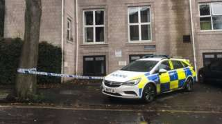 Police car at an address in Clifton, Bristol