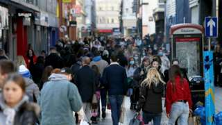 Shoppers in Belfast city centre on Sunday