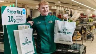 Morrisons paper carrier bag