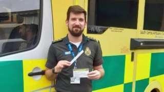 South Central Ambulance paramedic