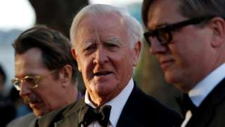 John le Carré with Gary Oldman and Tomas Alfredson