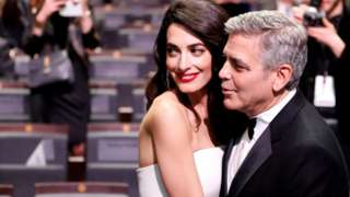 Amal and George Clooney at Cesar awards ceremony