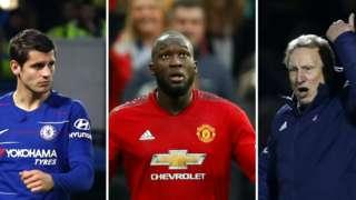 FA Cup - Morata, Lukaku, Warnock