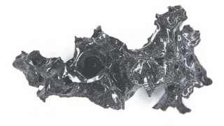 Fragmentos cerebrales vitrificados encontrados por investigadores cerca del monte Vesubio.