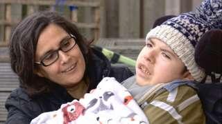 Claudia Romero with son Christian