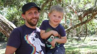 Andy Charles with his son, Ben