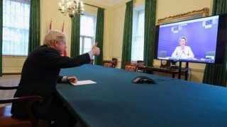 Boris thumbs up to TV