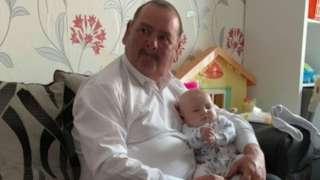 Mr Gamlin and grandson Charlie