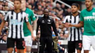 Darren Moore during Newcastle v West Brom
