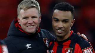 Eddie Howe and Junior Stanislas